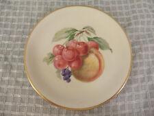 """ZEH SCHERZER Bavaria Germany Fruit Plate White w/ Gold Trim 7.5"""" #005585"""