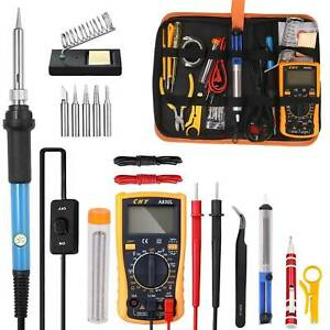 18-in-1 Soldering Iron Kit Electronic Welding Irons Repair Tool 60W Portable