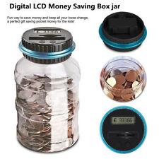 LCD Electronic Digital Counting Coin Bank Money Saving Box Pro Jar Counter Bank