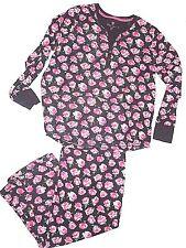 BETSEY JOHNSON long sleeve flannel Perfect PJ rose pajama set plus size XXL