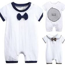 Newborn Kids Baby Boy Girls Short Sleeve Casual Clothes Romper Bodysuit Jumpsuit