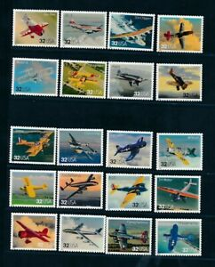 D125821 Aircrafts MNH USA Facevalue $ 6.40