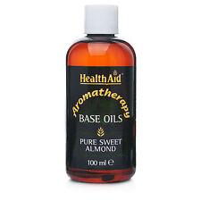 Healthaid Puro Aceite De Almendra Dulce 100 Ml-Para Cabello/cara y cuerpo libre de Reino Unido P&p