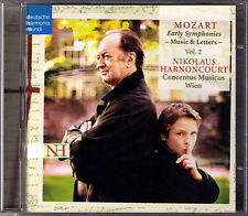 Nikolaus HARNONCOURT MOZART Early Symphonies Vol.2 Music & Letters 2CD Sinfonien