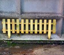 Mini steccato in legno cm.120x30  pino trattato in autoclave per aiuole giardini