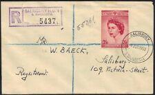 SOUTHERN RHODESIA 1953 CORONATION S.G. #77 ON REG. FDC