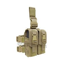 Tactical Combat MOLLE Drop Leg Pouch for 5.56 mm .233 CAL mag TAN (Condor MA65)