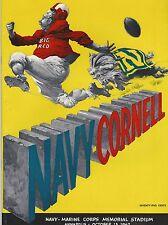 NOS New US Navy Vs Cornell Football Team Game Program 10/13/62 Roger Staubach