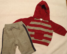 GYMBOREE 0-3 Month Classic Holiday Hooded Sweater Little Rookie Pant Outfit NWT