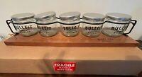 Bulleit Bourbon Metal and Wood Bar Caddy With Mason Jars