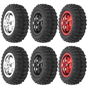 D12‑005 52mm RC Car Tyre Rubber Alloy Anti‑Skid Tires For WPL D12 1/10 RC Truck