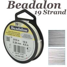 Beadalon Alambre 19 Strand grano de acero inoxidable para tendido elige color tamaño longitud