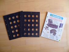 Original LEUCHTTURM Vista Münzblätter für 20 Cent Münzen 2er Pack NEU & OVP 28
