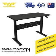 Gaming Desk Semi Auto Height Adjustment Armaggeddon Semi-Automatic T1