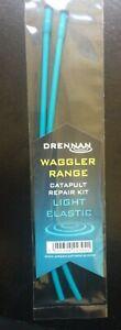 DRENNAN FISHING WAGGLER RANGE CATAPULT REPAIR KIT - MEDIUM or LIGHT ELASTIC