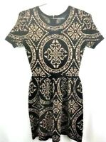Romeo + Juliet Couture sweater dress medium womens small fit& flare short sleeve