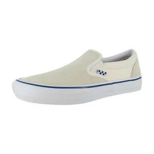 "Vans ""Skate Slip-On"" Sneakers (Off White) Classic Skating Shoes"