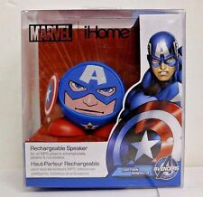 Captain America Rechargeable Bluetooth Speaker Marvel iHome - New in Box