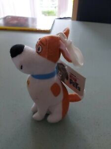 "THE SECRET LIFE OF PETS MAX THE DOG PLUSH 5"" SOFT TOY KEYRING"