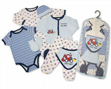 7 Piece Baby Boys Layette Clothing Gift Set Little Digger by Nursery Time