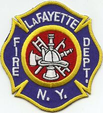 LAFAYETTE NEW YORK NY FIRE PATCH