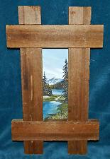 BEAUTIFUL 1977 VINTAGE FRAMED PAINTING OF AUKE LAKE IN ALASKA! SIGNED!