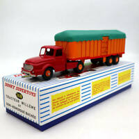 Atlas Dinky toys 36B Tracteur Willeme ET Semi Remorque Bachee Truck Metal Models