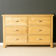 Roseland Furniture London Oak Light Lacquered 3 3 Chest of Drawers Beige