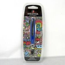 Sheaffer ION Blue Gel Ink Pen Key Chain Ery Burns Art  Rollerball In Clamshell