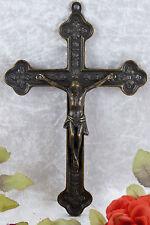 Messing Kruzifix Wandkreuz Kreuz Gold Jesus Christus 28 cm Religion Antik Deko
