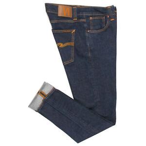NUDIE LEAN DEAN DRY 16 DIPS Men's Organic Cotton Slim Skinny Fit Jeans W30 L32