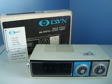 DYN DS-4531 Flip Clock AM Radio Alarm in Original Box - Working Condition
