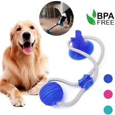 Dog Play Toy Pet Ball Floor Suction Cup With Ball For Pet Teeth Cleaning Chewing