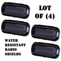 Lot of (4) Pyle PLMRCB1 Water Resistant Marine Radio Covers Splash/Dust Guard