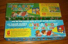 2 Kenner Give-A-Show Projector Slide sets # 502, & J, Roy Rogers, Flintstones ++