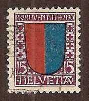 "Switzerland 1920 ""Pro Juventute"" Tessin … Mi.155, CV $15 ... (Sc.B17)"