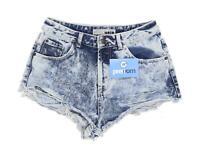 Womens Topshop Blue Size 10/L1 Denim Shorts
