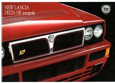 Lancia Delta HF Integrale 1992-93 UK Market Sales Brochure