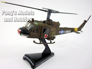 Bell UH-1 Iroquois (Huey) MEDEVAC 1/87 Scale Diecast Metal Model by Power Model
