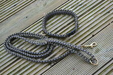 4 foot Dog Lead + King Cobra Collar Paracord 550 with Brass Fittings