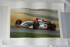 GP RACE ART LIMITED EDDIE IRVINE SIGNED + ARTIST AND GARY ANDERSON #264/500