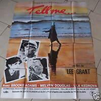 AFFICHE DE CINÉMA 160 x 120 cm - TELL ME - ANNÉE 1982