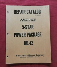 1960 MINNEAPOLIS-MOLINE 5-STAR TRACTOR #42 POWER PACKAGE PARTS MANUAL CATALOG