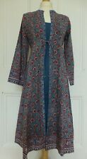 BNWT ANOKHI Double Layer Dress Hand Block Print Ethnic Boho Festival - Size M
