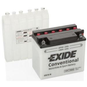 Batterie moto Exide YB16-B YB16-B 12V 19AH 240A 175X100X155MM ACIDE COMPRIS