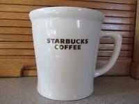 Starbucks 2009 New Bone China White Brown Coffee Mug 16 oz Original