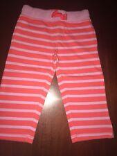 Nwt 6 Mini Boden Orange Crush & Lavender Striped Cropped Sweatpants