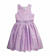 BLOOME Girls' 14 Lavender Lace Fit and Flare Dress NWT $68