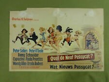 MOVIE POSTER / CINEMA AFFICHE - QUOI DE NEUF PUSSYCAT? (PETER SELLERS)