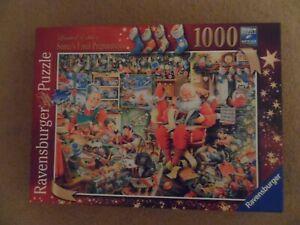 1000 piece jigsaw  - Ravensburger Santa s final preparations- complete